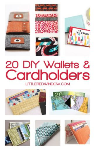 20 DIY Wallets and Cardholders