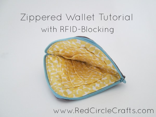 RFID blocking DIY Wallet from Red Circle Crafts