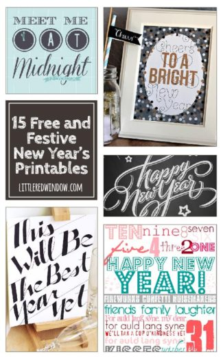15 Free and Festive New Year's Printables