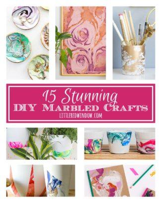 15 Stunning DIY Marbled Crafts