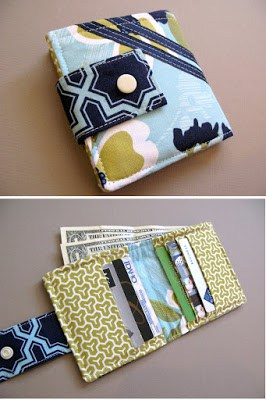 DIY wallet with cute fabric from modest maven