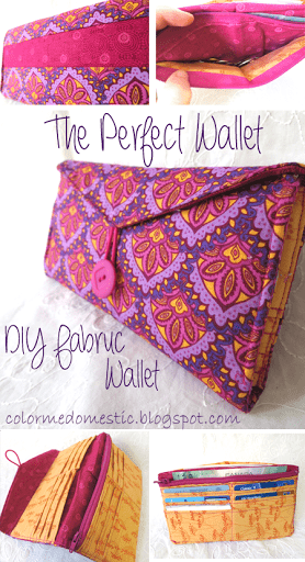 DIY wallet made of fabric from color me domestic!