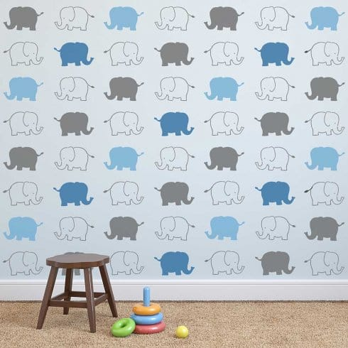 Baby-Elephants-Stencils-nursery