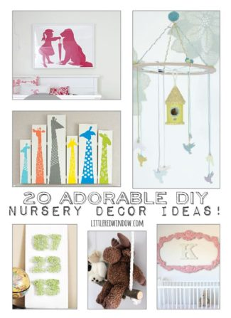20 Adorable DIY Nursery Decor Ideas