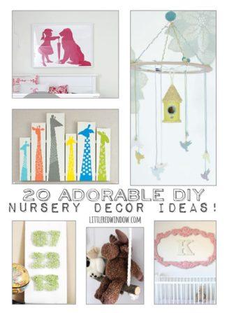 20 Adorable DIY Nursery Decor Ideas