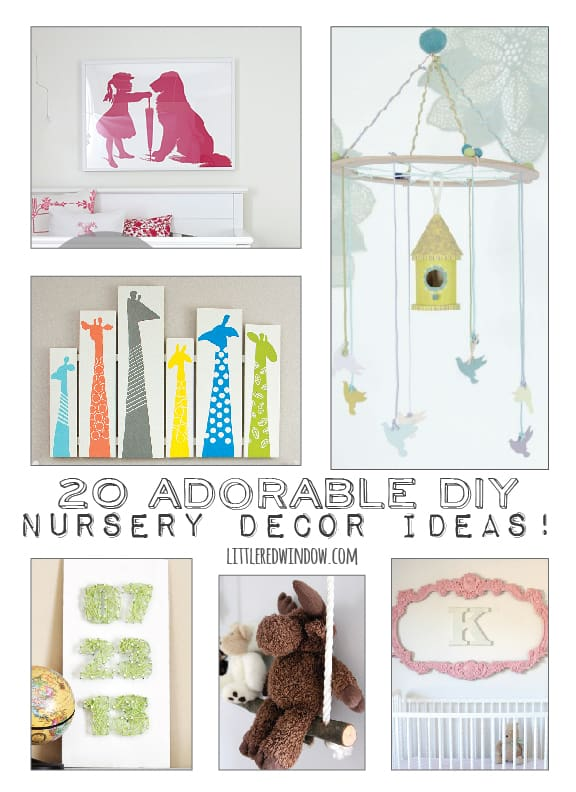 20 Adorable Diy Nursery Decor Ideas Little Red Window
