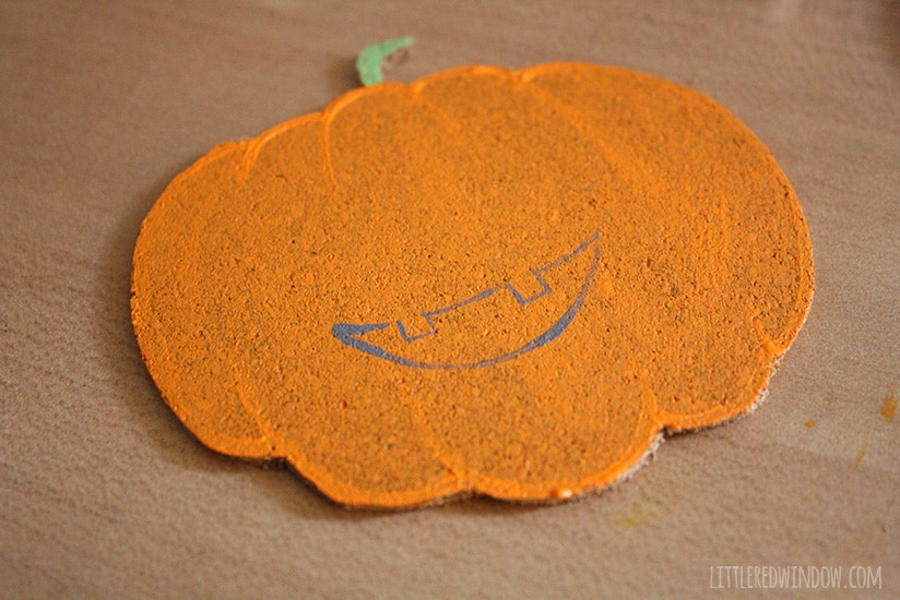 DIY Happy Halloween Pumpkin Coasters!  | littleredwindow.com