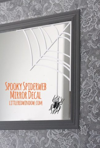 Spooky Halloween Spiderweb Mirror Decal