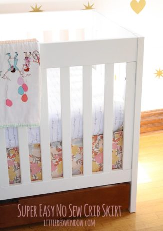Super Easy No Sew Crib Skirt!