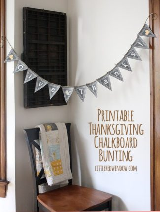 Printable Thanksgiving Bunting!