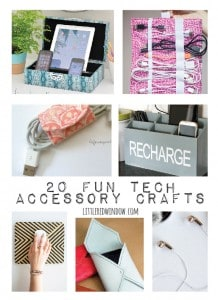 20 Fun Technology Accessory Crafts to liven up your boring office! | littleredwindow.com