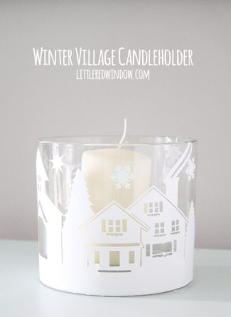Winter Village Candleholder