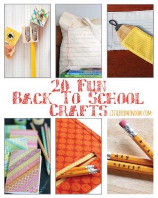 20 Fun Back to School Crafts