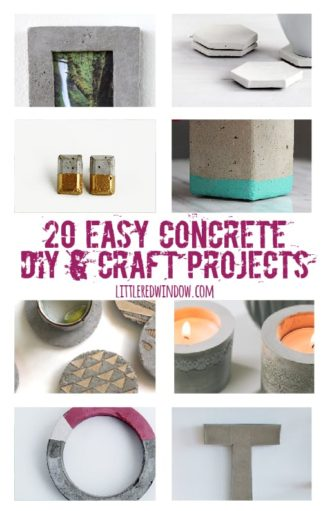 20 Easy Concrete DIY & Craft Projects