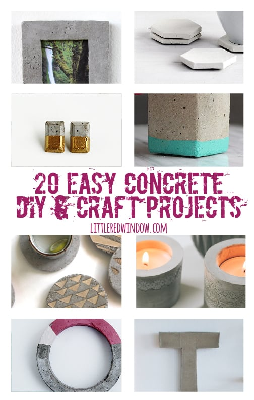 20 easy concrete diy craft projects little red window for Craft cement mix