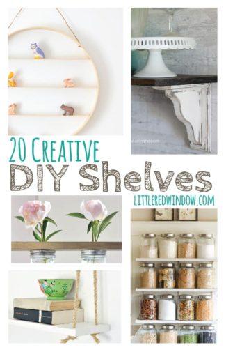 15 Creative DIY Shelves