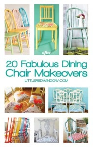 20 Fabulous DIY Dining Chair Makeovers | littleredwindow.com
