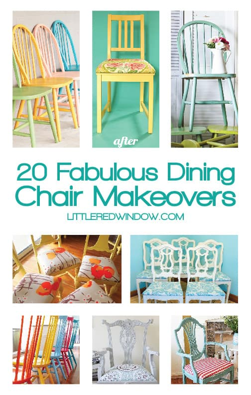 20 Fabulous DIY Dining Chair Makeovers