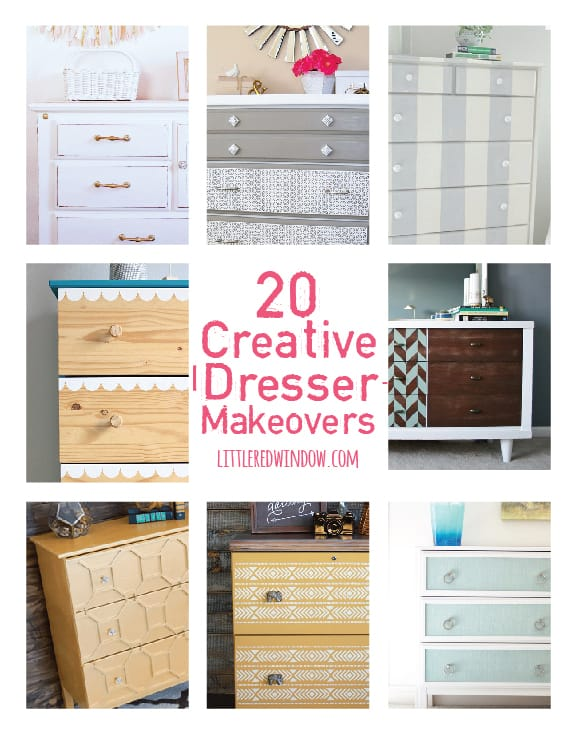 20 Creative DIY Dresser Makeover Ideas! | littleredwindow.com