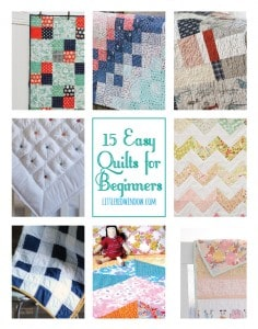 15 Easy Quilts for Beginners | littleredwindow.com