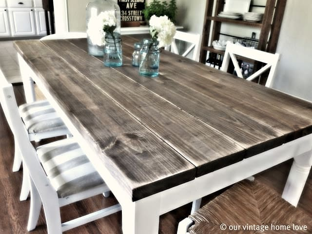 Beautiful Dining Room Table Makeover From Our Vintage Home Love Part 7