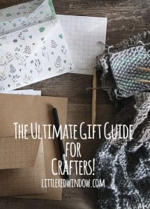 The Ultimate Gift Guide for those hard to shop for Crafty friends and loved ones! | littleredwindow.com
