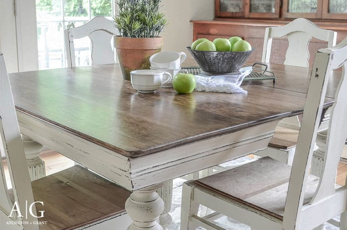 Chalk Paint Table Makeover From Anderson Grant Dining Room