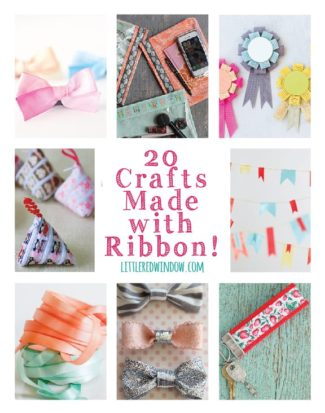20 Crafts Made with Ribbon!