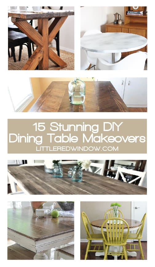 Tremendous 15 Stunning Diy Dining Table Makeovers Little Red Window Download Free Architecture Designs Grimeyleaguecom