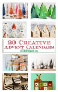 20 Creative Advent Calendars for Christmas! | littleredwindow.com