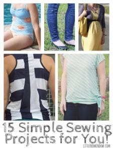 15 Simple Sewing Projects for YOU! | littleredwindow.com | Some great ideas for beginners!