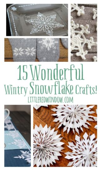 15 Wonderful Wintry Snowflake Crafts!