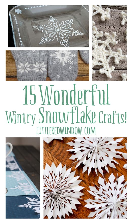 15 Wonderful Wintry Snowflake Crafts! | littleredwindow.com