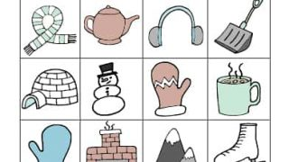photo relating to Winter Bingo Cards Free Printable named Wintertime BINGO - Absolutely free Printable! - Minimal Crimson Window