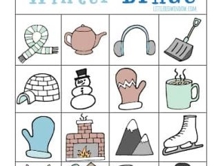 picture about Winter Bingo Cards Free Printable referred to as Wintertime BINGO - Free of charge Printable! - Minimal Pink Window