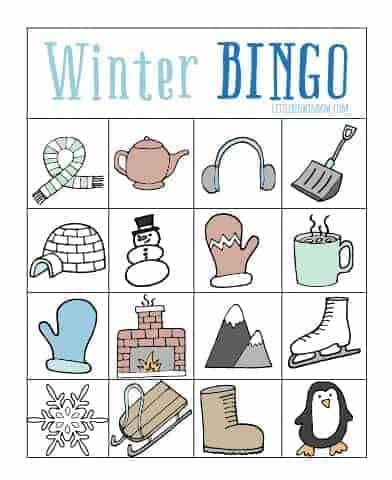 photograph regarding Printable Bingo Game Patterns known as Winter season BINGO - No cost Printable! - Small Crimson Window