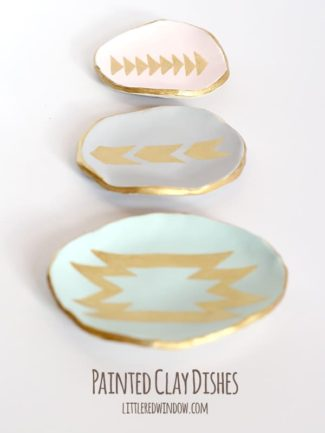 Painted Clay Ring Dishes