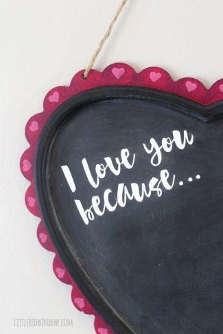 Valentine's Day Gratitude Chalkboard