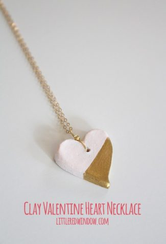 Clay Valentine's Day Heart Pendant