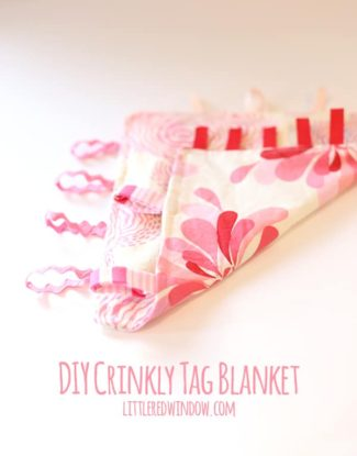 DIY Crinkly Tag Blanket for Baby