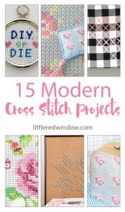 15 Modern Cross Stitch Projects | littleredwindow.com | Cross Stitch isn't just for grandmas anymore!