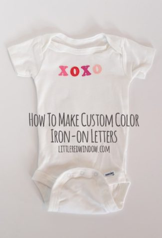 How To Make Custom Color Iron-On Letters : A Valentine's Onesie