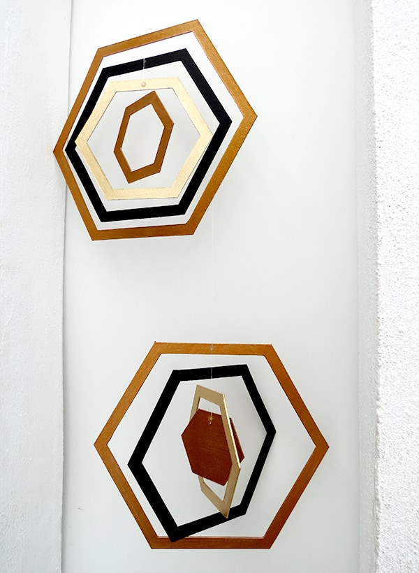 diy-hexagon-cardboard-mobile-ohohblog-7