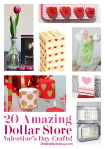 20 Amazing Dollar Store Valentine's Day Crafts & Gifts! | littleredwindow.com