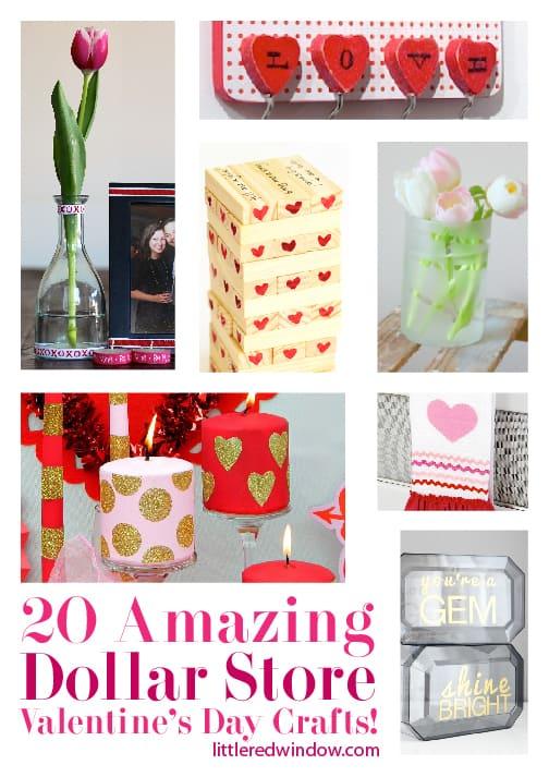 20 Amazing Dollar Store Valentine S Day Crafts Little Red Window