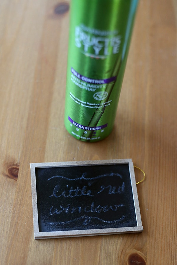 Learn how to save and preserve chalkboard drawings with this one simple trick! | littleredwindow.com