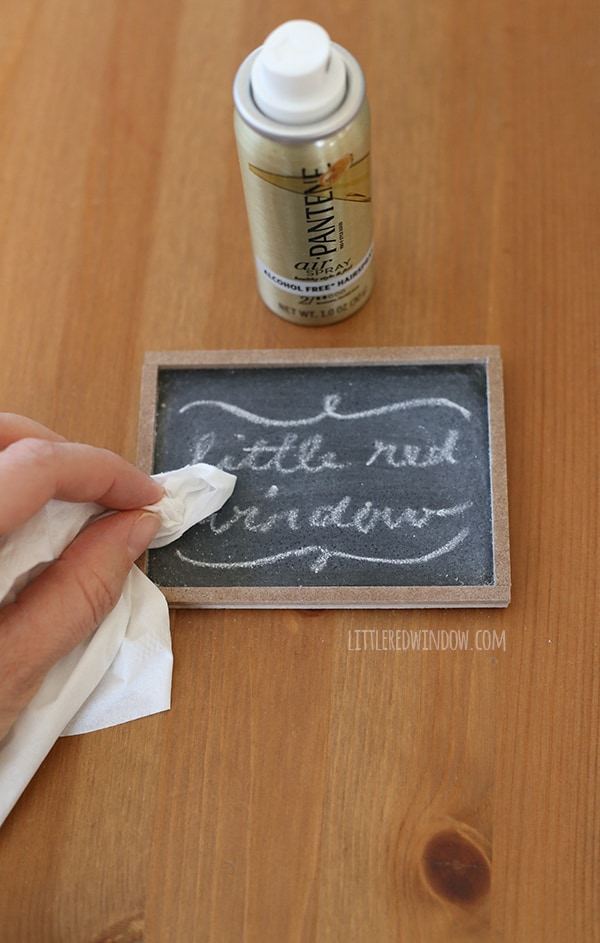 Learn how to save and protect your chalkboard drawings with this one simple trick! | littleredwindow.com
