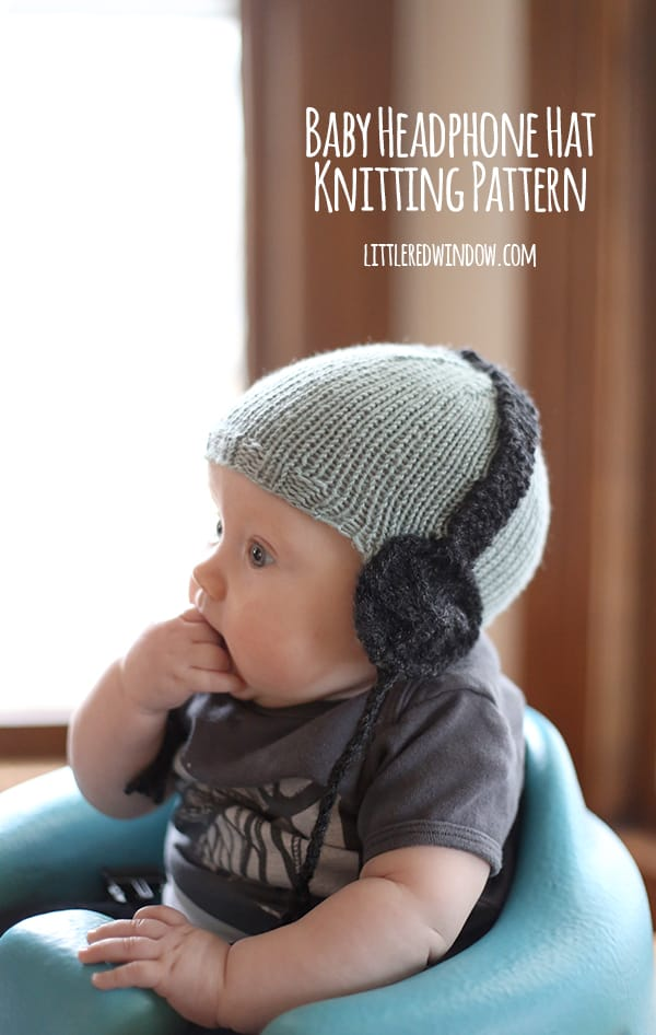 10 cutest free baby hat patterns, here's #8, the BABY HEADPHONE HAT!