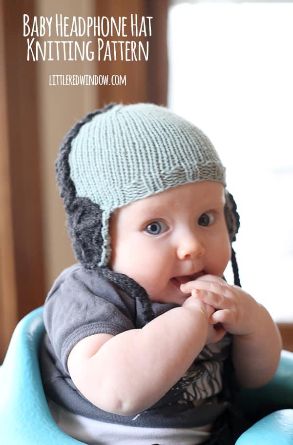 Knit Baby Headphone Hat Knitting Pattern