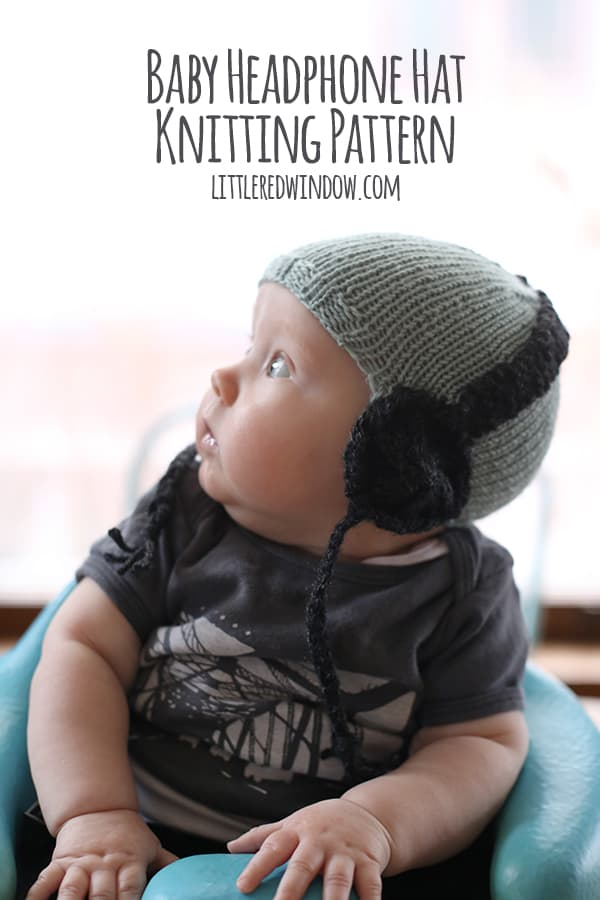 Baby Headphone Hat knitting pattern for newborns, babies & toddlers! | littleredwindow.com